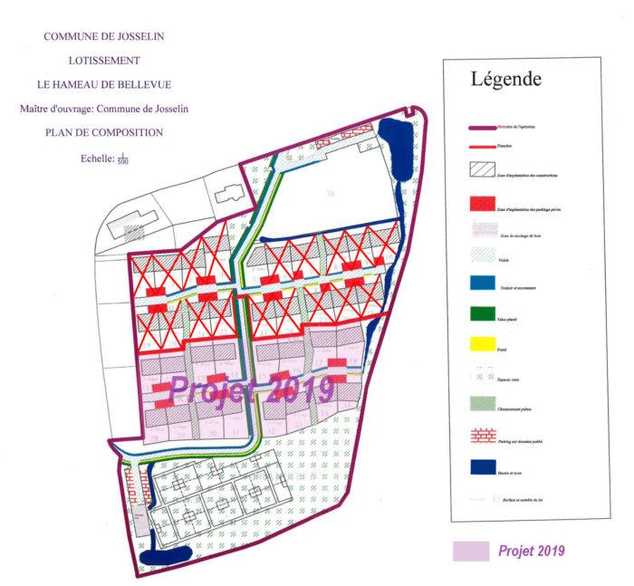 Plan du lotissement hameau de Bellevue