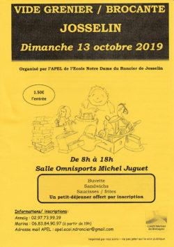 Vide grenier @ Salle Omnisports Michel Juguet | Josselin | Bretagne | France