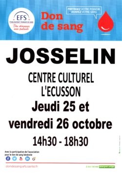Don du sang @ Centre culturel l'Écusson