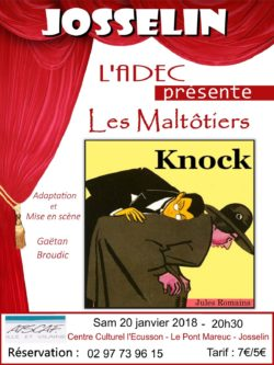"""Théâtre : """"Knock"""" @ Centre culturel l'Écusson"""