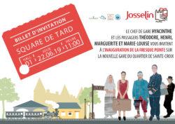 Inauguration de la fresque - cale Sainte-Croix @ Square de Tard