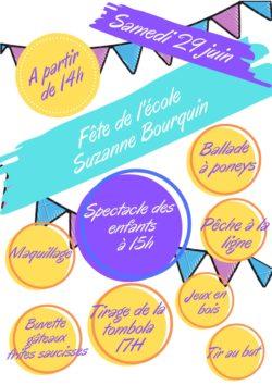 Fête de l'école Suzanne Bourquin @ Ecole Suzanne Bourquin