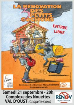 La rénovation des 3 petits cochons @ Complexe des Nouettes