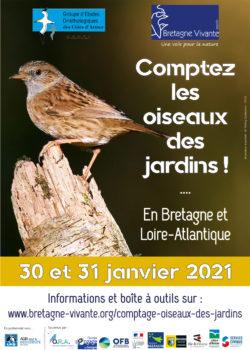 Comptez les oiseaux des jardins !
