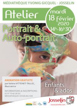 Atelier Portrait-autoportrait @ Médiathèque Yvonig Gicquel
