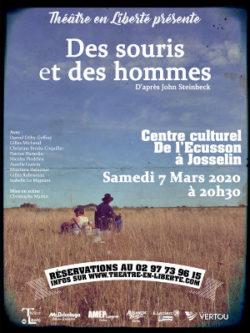 ANNULÉ - Des Souris et des Hommes @ Centre culturel l'Ecusson