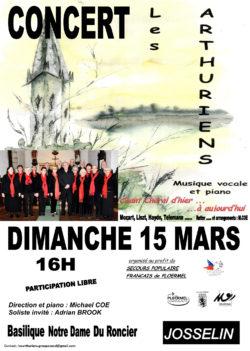 ANNULÉ - Concert Les Arthuriens @ Basilique Notre-Dame du Roncier