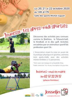 Jeunesse : Les après-midi sportifs @ la salle des sports Michel Juguet